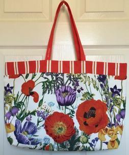 New Estee Lauder Floral Design Tote Bag Summer Beach Bag Sho