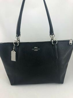 New COACH F57526 AVA Crossgrain Leather Tote Handbag Purse S