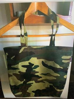 NEW J CREW CANVAS TOTE BAG, CAMO GREEN NEW IN BAG- SturdyCot