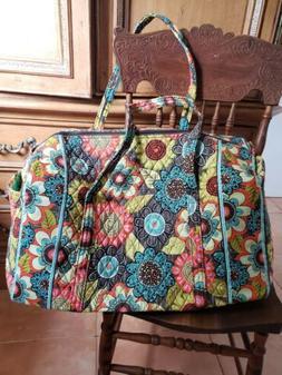 NEW Vera Bradley Large Duffel Flower Shower Travel Tote Bag