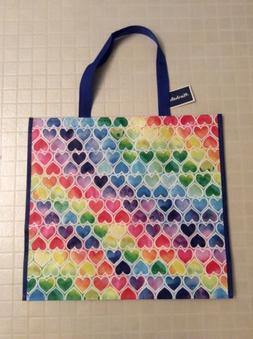 NEW Marshalls Large Shopping Tote Bag - Multicolor Hearts -