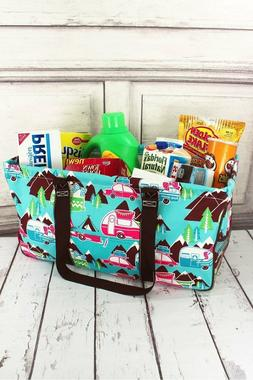 NEW Ngil Large Utility Tote Bag Haul It All Happy Campers Ca