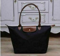 NEW Longchamp Le Pliage Tote Bag 1899 Nylon Handbag Black La