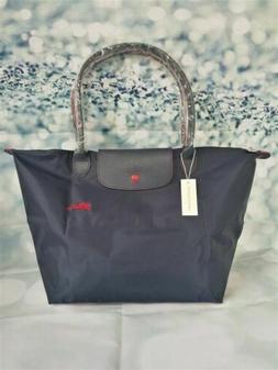 NEW Longchamp Le Pliage Navy Blue/black tote bag Large L 201