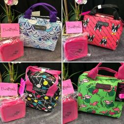 Betsey Johnson Lunch Box Tote Bag & Container FRENCHIE DOG F