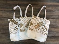 Lululemon NEW Set of 3 Reusable Large Shopping Tote Bag Whit