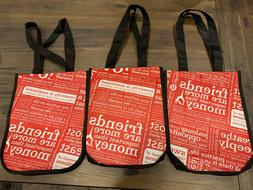 NEW Small Lululemon Black Red Nice Tote Bag Lot of 3 Barely
