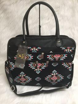 NEW Southern Tribe Aztec Western Print Travel Tote Bag NGIL