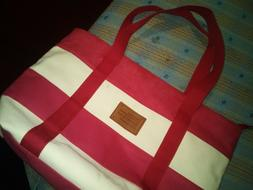 new tote bag canvas red rose color