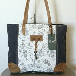 NEW Myra Bag Upcycled Canvas Tote Bag Large Canvas Purse for