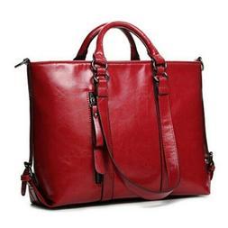 New Women Large Leather Tote Bag Commute Handbag Shoulder Sa
