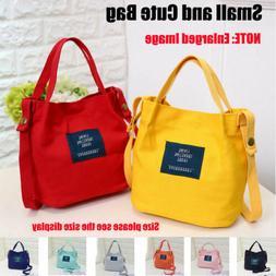 Women Lady Girl Small Canvas Handbag Shoulder Messenger Bag