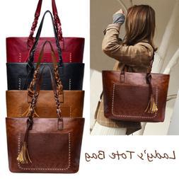 New Women's Fashion Leather Tote Bag Shoulder Bag Messenger