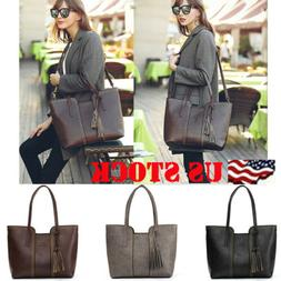 New Women's Handbag Shoulder Bags Tote Purse Fashion PU Leat