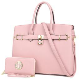 Dasein Women Faux Leather Handbag Large Satchel Bags Shoulde