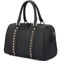 New Womens Handbags Faux Leather Satchel Tote Bag Shoulder B