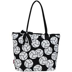 Ngil Quilted Cotton Medium Tote Bag 3 Volleyball Black