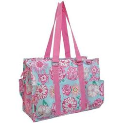 NGIL Themed Prints Large Zippered Caddy Organizer Tote Bag