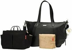 noa leather shoulder bag diaper bag