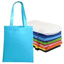10 Pieces Bulk Colorful Nonwoven Polyester Tote Bag Assortme