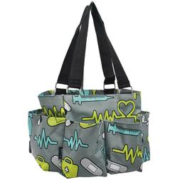 nurse doctor small zippered canvas purse caddy