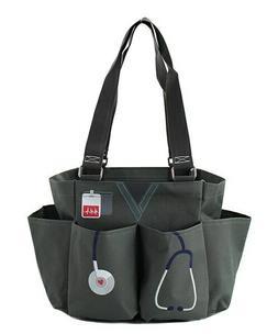 Nurse Scrubs Gray NGIL Small Zip canvas purse Caddy Organize
