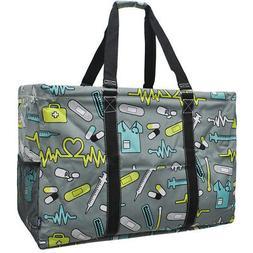 Nurse Theme NGIL® Mega Shopping Utility Tote Bag