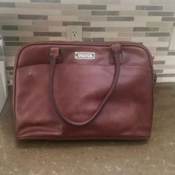 NWOT EDODAY Laptop Tote Bag Brown Faux Leather Vegan Up To 1