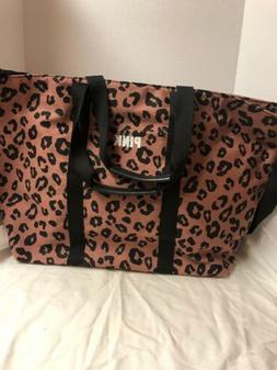 NWOT Victorias Secret VS PINK Large Weekender Leopard Cheeta