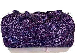 NWT Vera Bradley Large  Duffel Travel Bag Tote Bag in BLANCO