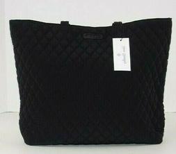 NWT Vera Bradley Essential Tote Bag Classic Black Microfiber