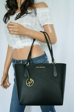 NWT MICHAEL KORS LEATHER KIMBERLY SMALL BONDED TOTE BAG IN B