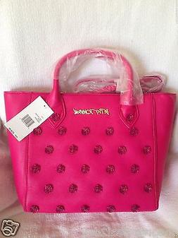 NWT Betsey Johnson Smell The Roses Tote Bag Crossbody- Fusch