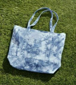 NWT Victorias Secret Pink VS Tote Bag Blue Tie Dye Canvas To