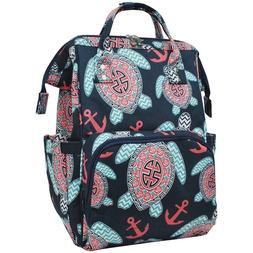 Ocean Sea Turtle Beach Anchor NGIL Diaper Bag Backpack Free