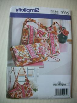 Simplicity One Size Pattern 2201 Tote Bag Purse Sewing Craft
