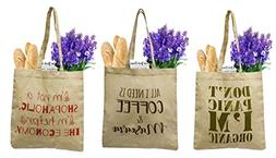 Earthwise Organic Cotton Reusable Grocery Bag Shopping Totes