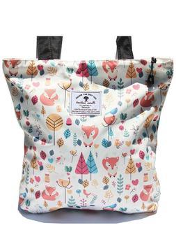 Original Floral Tote Bag Shoulder Bag for Gym Hiking Picnic