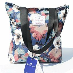 Original Floral Tote Bag Shoulder Bag for Gym Hiking Picnic