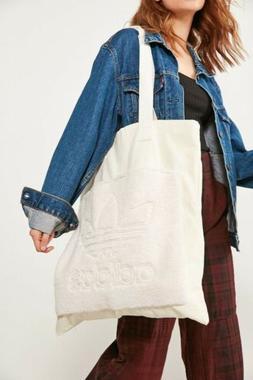 Adidas Original Womens White Cotton Canvas Fleece Trefoil Ov