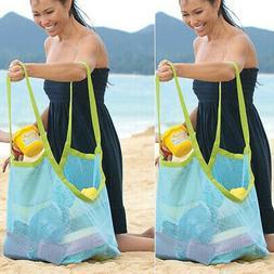 Outdoor Mesh Storage Bags Travel Beach Handbag Gym Pool Tote