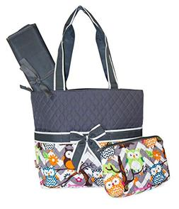 NGIL Owl Print Quilted Diaper Bag