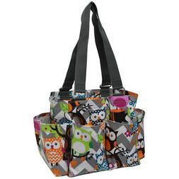 Owl Town Gray Chevron NGIL® Small Zippered Caddy Organizer