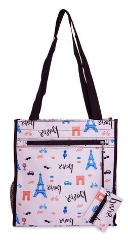 Paris Womens Small Tote Bag Handbag Purse for Travel Work Sc