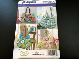 4 Styles Purse Bag Totes  EASY! Simplicity Pattern 2164 ~ Learn to Sew ~
