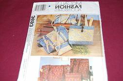 McCalls Pattern # 3693 - Duffle Bag, Makeup Case, Tote Bag,