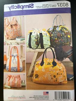 Simplicity Pattern 8037 ~GINGERCAKE~ BackPack  Totes  & Cosm