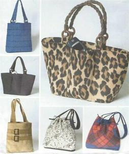 PATTERN Boho Fabric Tote Handbag Purse Satchel Bag UNCUT OOP