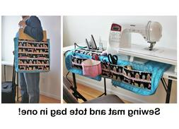 Pattern for sewing machine mat/tote bag: travel tote for sew