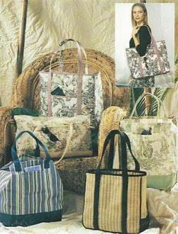 PATTERN HUGE Quilt Tote Bag or Overnight Travel Bag 4 STYLE